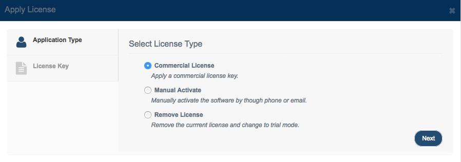 Apply License