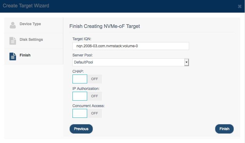 Create Nvme                 Target